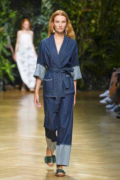 Erika Cavallini RTW Spring 2016 /// denim pajama dressing
