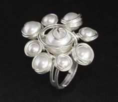 Inel handmade placat cu argint 999 si perle swarovski. SAU PLACAT CU AUR 24 K.