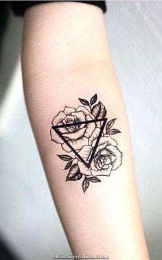 Geometric Roses Underarm Tattoo Concepts for Ladies - Small Triangle Flower Arm Tat . Terrific Geometric Roses Underarm Tattoo Concepts for Ladies - Small Triangle Flower Arm Tat . Tattoo Girls, Girl Tattoos, Tattoos For Guys, Tatoos, Tattoo Women, Finger Tattoo Designs, Finger Tattoos, Forearm Tattoos, Sleeve Tattoos