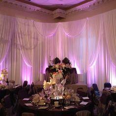 Wedding Backdrop with uplighting