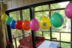 Chasing Cheerios: Birthday Balloon Countdown!!!!!!! Hide a small prize the birthday boy can pop open each day until birthday!