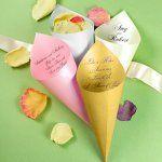 Wedding favor cones, wedding flower petal cones