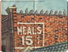 Kansas City ghost sign sketch by Chandler O'Leary