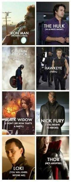 Avengers catch phrases