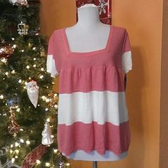 Sweet Top Mossimo Supply Co Sweet Top Mossimo Supply Co square neck pink,white, 100%Cotton A/X Armani Exchange Tops