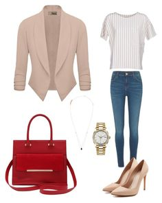 Work Outfit by jenimarrivera on Polyvore featuring polyvore, fashion, style, BELLEROSE, River Island, Alexander McQueen, M&Co, Rolex and clothing