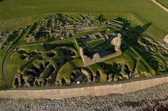 """*Jarlshof is the best known prehistoric archaeological site in Shetland, Scotland. It lies near the southern tip of the Shetland Mainland and has been described as """"one of the most remarkable archaeological sites ever excavated in the British Isles"""". It contains remains dating from 2500 BC up to the 17th century AD.*"""