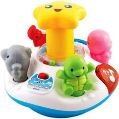 Spin & Learn Top, Style May Vary : Electronic Learning Toys :  Easy to push sea animals make animal sounds when pushed and in different play modes will teach colors, counting and play music. A firm push on the top of the star will make the toy spin if on a hard surface.