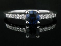 0.35ct Sapphire and Diamond Set Ring. - Geeves Jewellers - suppliers of watches and jewellery, London
