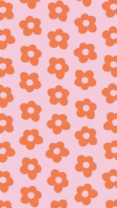 Pink & Orange Flower Wallpaper 💗🧡