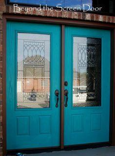 SW Nifty Turquoise door + black glaze   LFF Designs   www.facebook.com/LFFdesigns