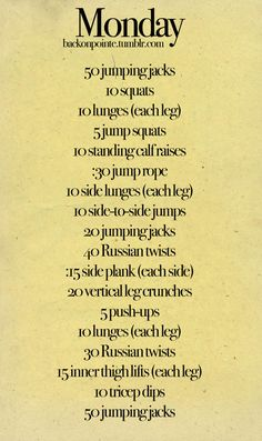 Short workouts