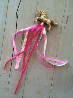 Magical Unicorn Party Birthday Favors. Unicorn Wands. Ribbon Glitter Wands. Custom colors from Ella Jane Crafts