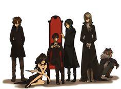 Regulus Black, Bellatrix Lestrange, Tom Marvolo Riddle, Severus Snape, Lucius Malfoy, and Bartemius Crouch Jr.