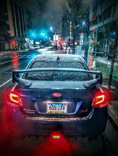 Oh the weather outside is frightful, but the STI is so delightful. (photo courtesy: Conor Geary)