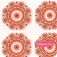 Lost and Found 2 Red Medallions Yardage SKU# C3693-RED