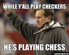 He is playing Chess