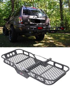 22x59 Rola Cargo Carrier For 2 Hitches Steel 600 Lbs
