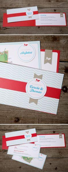Moderne Hochzeitseinladung von Schneider's Family Business