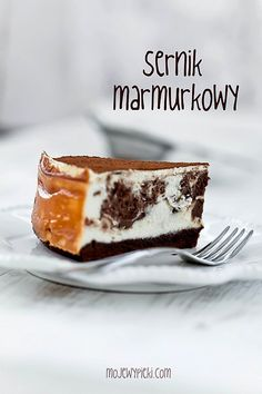 Marbled cheesecake With Chocolate And Brownie On The Bottom