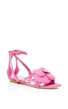 28d4d1a0b0179 Dahlia Pink Suede Sandals by Olgana for Preorder on Moda Operandi Shoe  Gallery