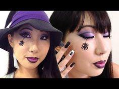 Maquiagem / Makeup: Halloween Dia das Bruxas ( olhos pequenos e orientai...