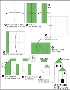 Instruction Origami Nature Castle