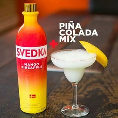 Pina colada mix + svedka mango pineapple
