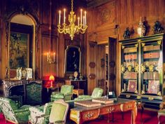 The Smoking Room- Chateau Champs-sur-Marne, France. Photos by Amber Maitrejean