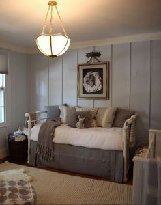 [CasaGiardino]   This could work nicely as a combo room baby/guest room.  (Nursery by Linn Gresham Haute Decor)