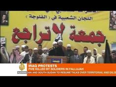 At least five people have been killed and up to 40 injured in clashes in Fallujah after Iraqi troops opened fire on Sunni protesters and worshippers, officials have said.  Friday's incident is the most violent yet since Sunni demonstrators began taking to the streets in late December to challenge Prime Minister Nuri al-Maliki's Shia-led governme...