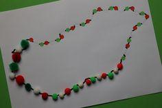 Nursery School, Pre School, Beaded Necklace, Creative, Beaded Collar, Pearl Necklace, Beaded Necklaces