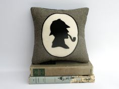 Sherlock Holmes Book Lovers Bookshelf Pillow