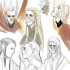 1- let's say that thranduil lost his wife in that battle, so, he  WAS  deeply hurt,MENTAL,PHYSICAL, AND PSYCHOLOGICALLY HURT loosing the love of his life,left him completely drained so HE WANTS TO DIE, /lets remember that elves can die for love/, but the love for legolas kept him alive, HOW COULD LET HIS LITTLE LEAF BY HIMSELF ;; 2-i like to think that elrond help him to conceal his wounds ;;