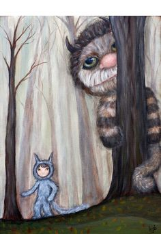 Wild Things in the Woods giclee print  children's by acageybee, $18.00