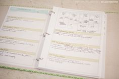 Free printable Project Life planner. I've been looking for something like this to write down the memorable events from year to year all in one binder. So you can open to a date Ex: February 2nd and see: 2012: Ultrasound 2012: She said DaDa!  etc.
