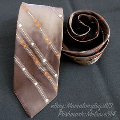 Vintage 1960s Mens MCM Atomic Sputnik Starburst Necktie The Custom Tie Brown #TheCustomTie #NeckTie