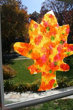 Fall Craft: Coffee Filter Leaves