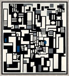 Composition IX, Opus 18 Theo Van Doesburg - 1917 Mondrian, Modern Art Artists, Theo Van Doesburg, Art History, Design History, Dutch Artists, Interior Architecture, Interior Design, Bauhaus