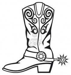 cowboy boot Stock Photo
