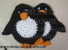 Space Cheesecake Crochet: Penguin Coasters