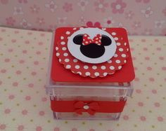 Caixinha Acrilica Minnie Vermelha