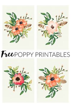 Four FREE Poppy prin