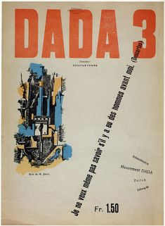 Cover of Dada N°3 (December 1918) | by Tzara's friend Marcel Janco, one of the early participants in Zurich Dada