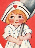 Image result for vintage valentines nurse