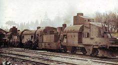 """Armored train """"Śmiały""""."""