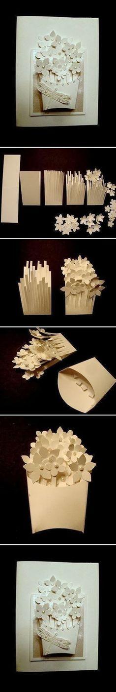 DIY : Basket of Flower Card | DIY & Crafts Tutorials