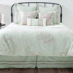 Beautiful Mint Bedding.