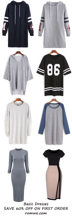 Cozy Basic Dresses from romwe.com