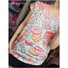 Kawaii Donut Bear Ice Cream T-shirt